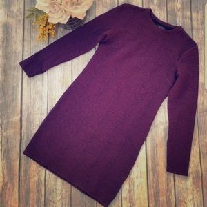 Burgundy sweater dress topshop
